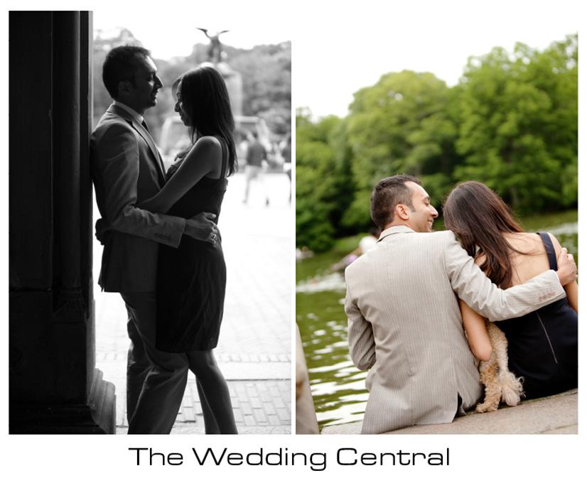 NYC Engagement Photographer - Couple hugging
