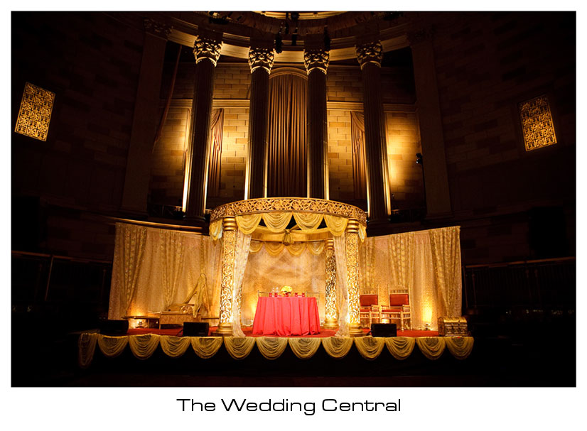 NYC Indian Wedding Photographer, Indian Wedding Mandap Gotham Hall NYC