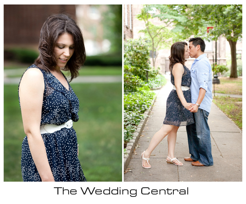 New Brunswick NJ Engagement Photos - Rutgers University