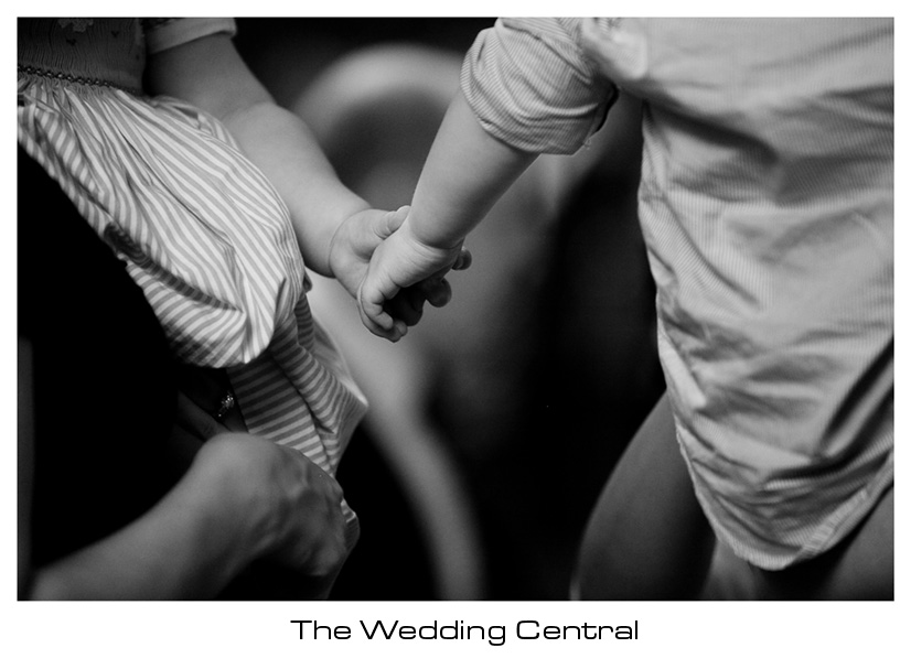 Harvard Club New York City Baby holding hands - New York City Wedding Photography