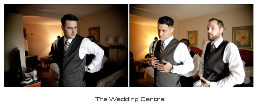 Groom getting ready retro hollywood style westmount country club wedding photos