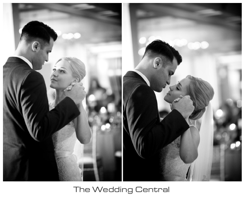 NJ Wedding Photographer - bride and groom dancing BW