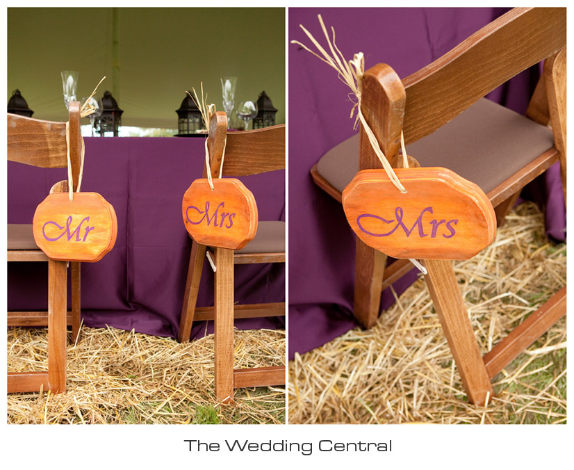 rustic mr and mrs wedding sign - hand crafted wedding details