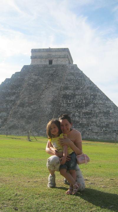 isabella and gaby chichen itza - vacations cancun