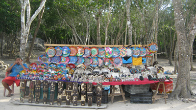 mayan art crafts chichen itza - vacations cancun
