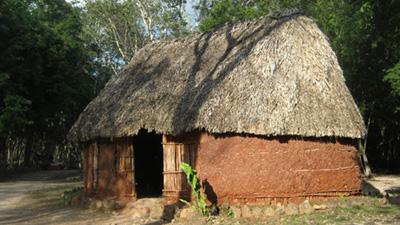 mayan hut art crafts chichen itza - vacations cancun - mayan riviera