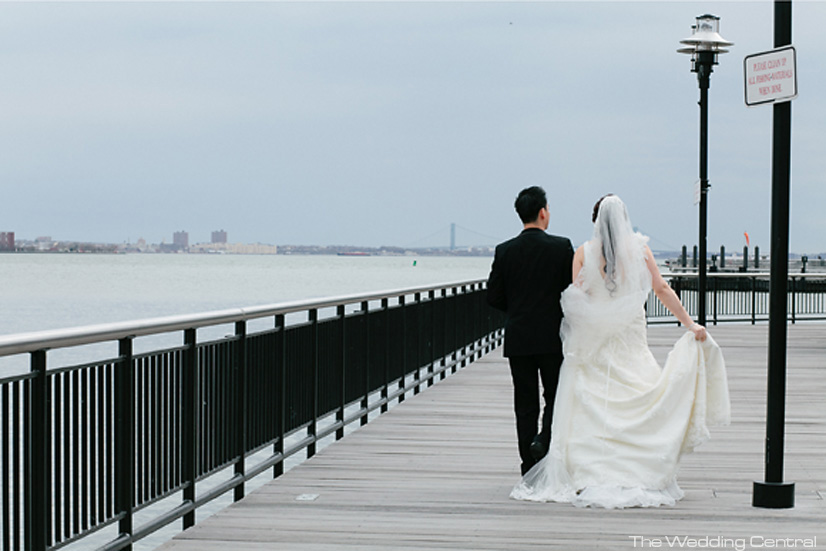 Exchange Place wedding photo - New Jersey Wedding Photographer