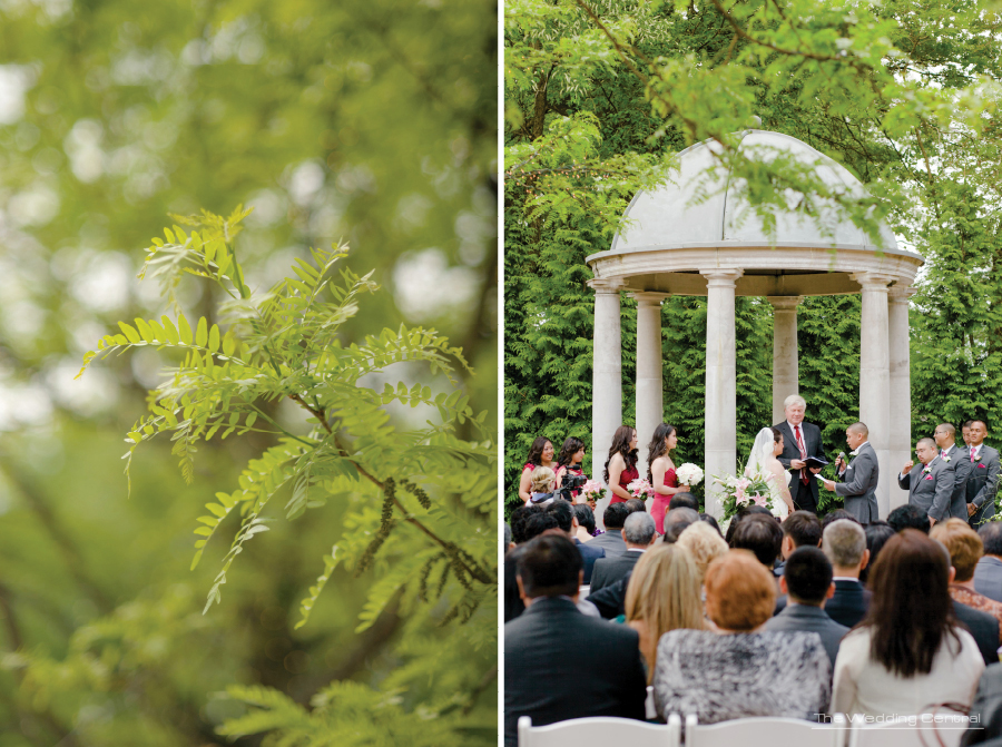 outdoor ceremony at The Estate at Florentine Gardens Wedding - NJ Wedding Photography