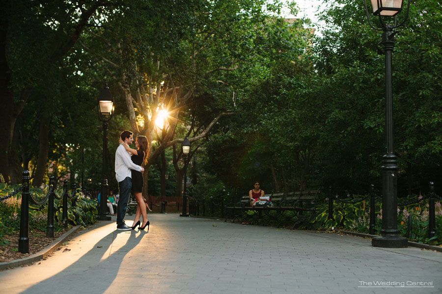 NYC Engagement Photos - Union Square Park Engagement - Courtney and Jason