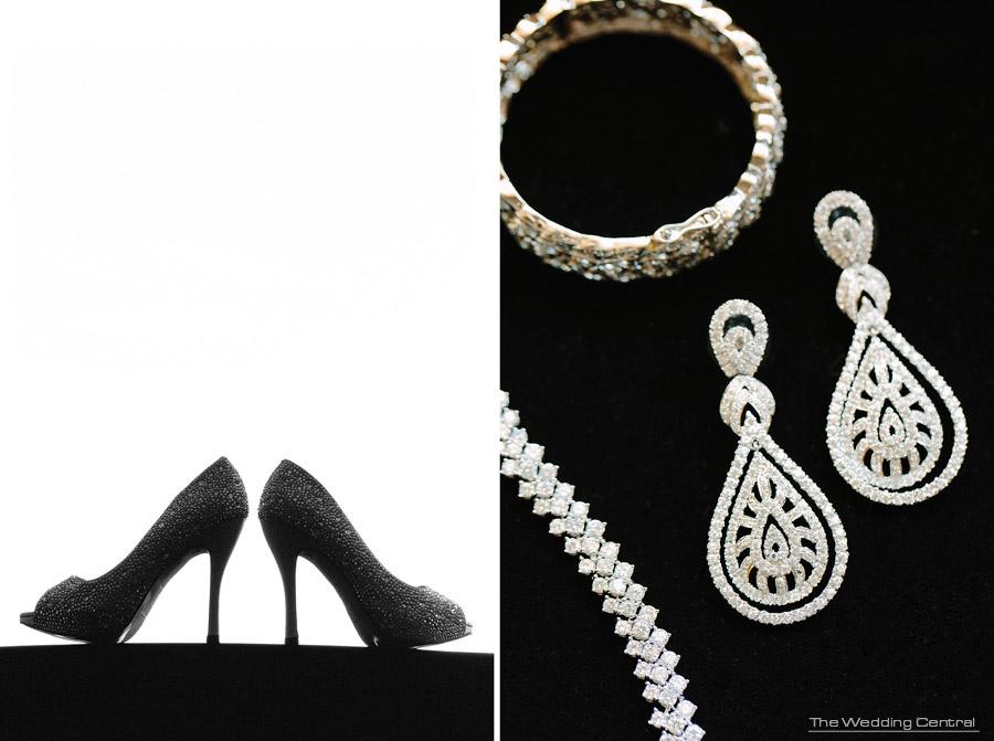 sparkling shoes - The Venetian Wedding Photos - Hiromi and Elvin NJ Wedding Photos