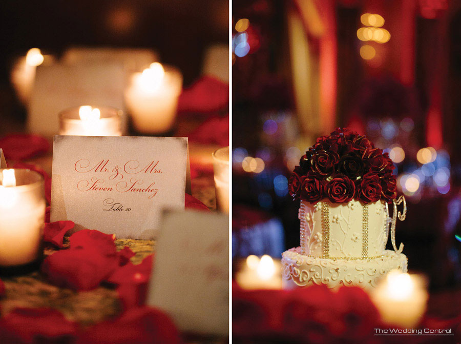 Cake Boss red roses - The Venetian Wedding Photos - Hiromi and Elvin NJ Wedding Photos