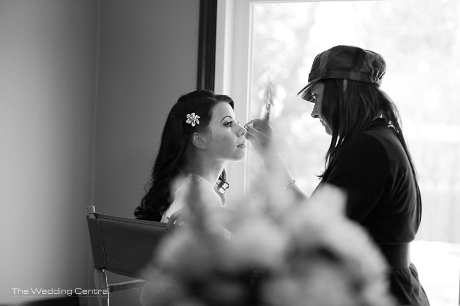 bride getting ready - NJ wedding Photographer - Mountain lakes