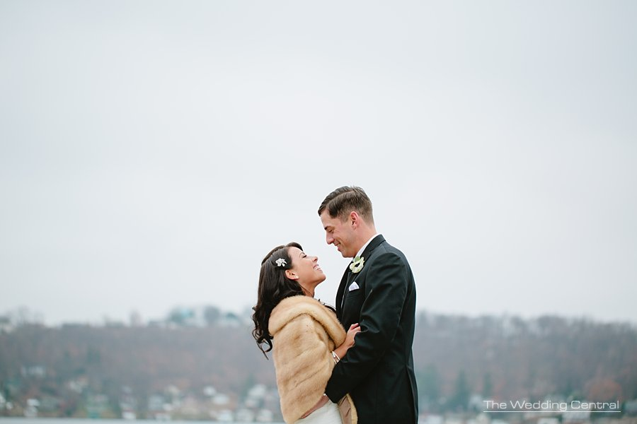 Bride and groom portrait - The Villa Wedding - NJ wedding Photographer - Mountain lakes