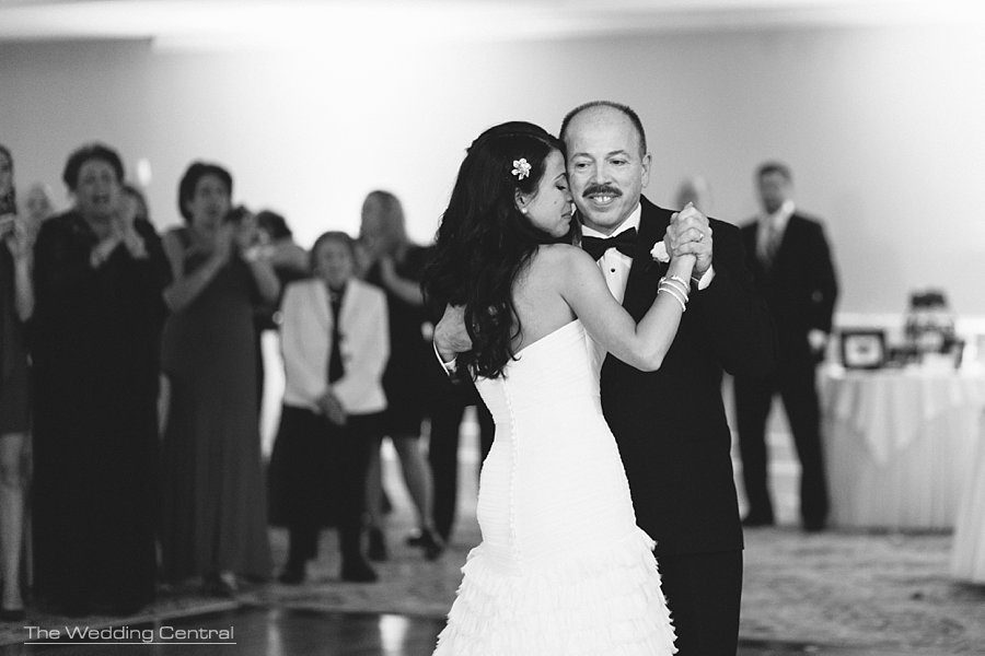 father and daughter dance - The Villa Wedding - Mountain lakes NJ