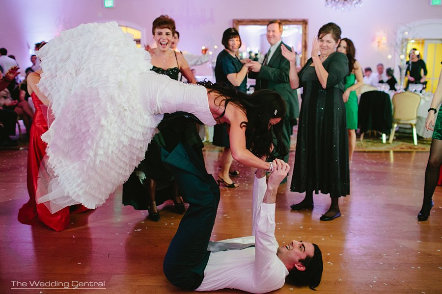 Cheerleader Bride dancing - The Villa Wedding NJ