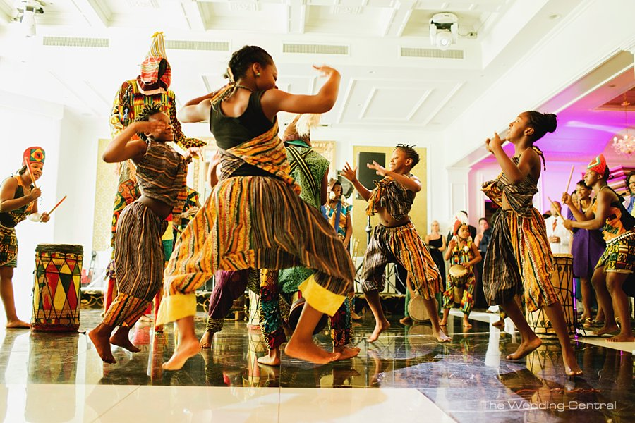 African dances wedding reception - New Jersey wedding photographer