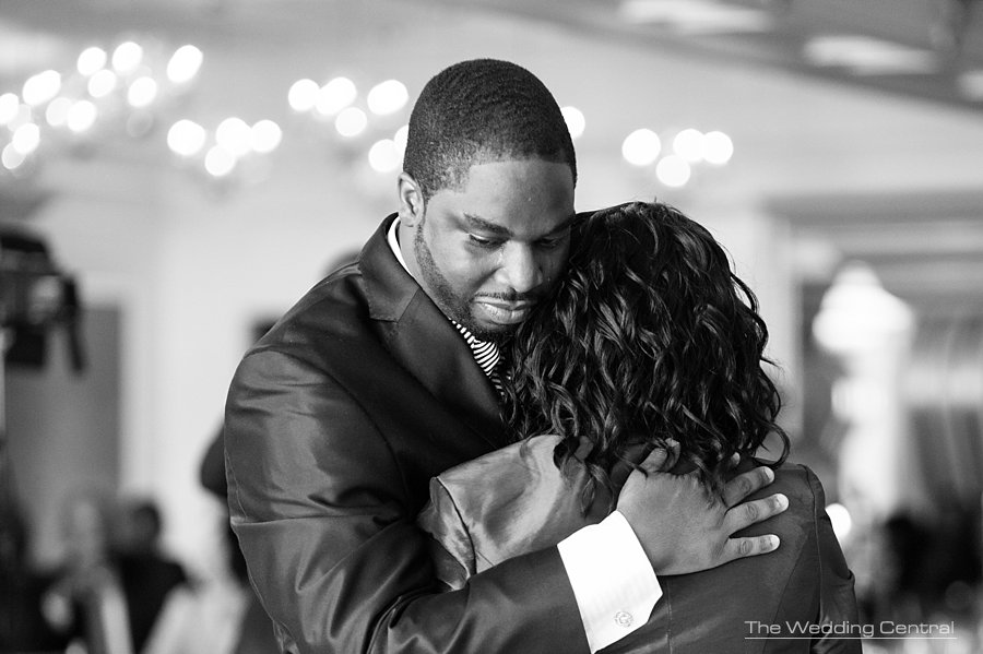 Mother son dance - groom crying - New Jersey wedding photographer