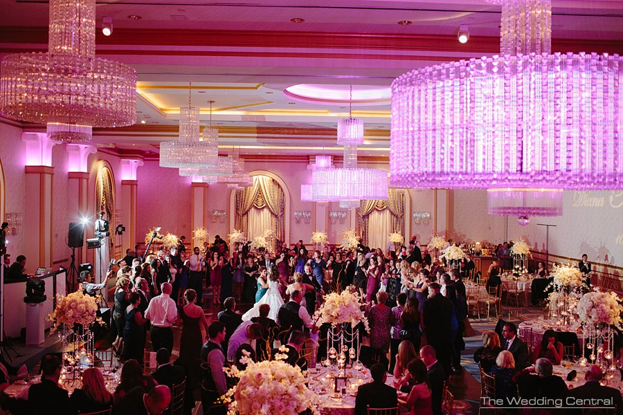 Ballroom crowd dancing -The Grove Wedding Photos - Diana and John