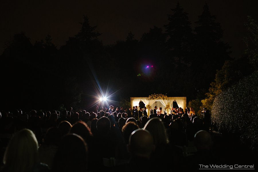 night ceremony - jewish wedding - New York botanical garden wedding - ny wedding photographer