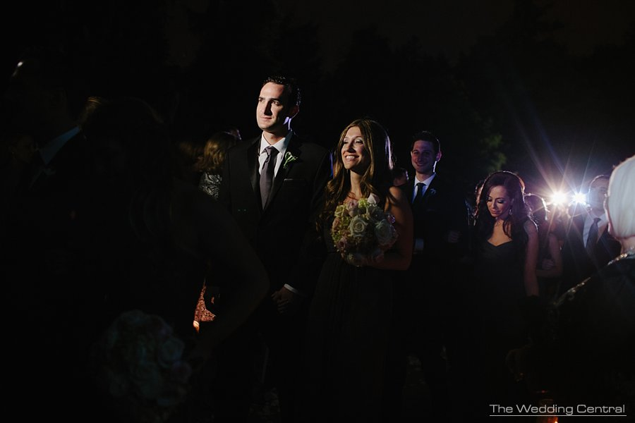 Night Jewish ceremony - New York Botanical Garden Wedding Photos