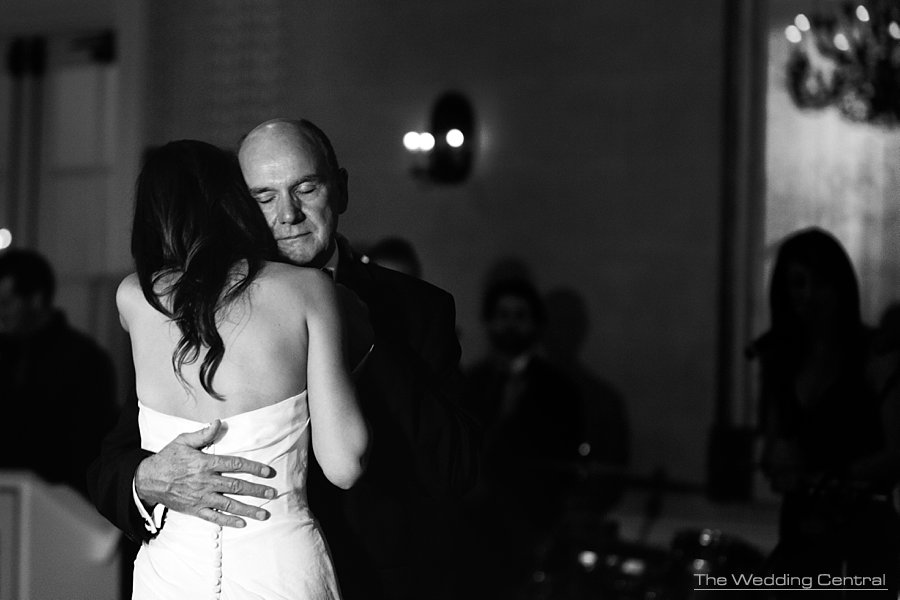 Sweet Father Daughter Dance during elegant NY Botanical Gardens wedding reception - NY Wedding photographer
