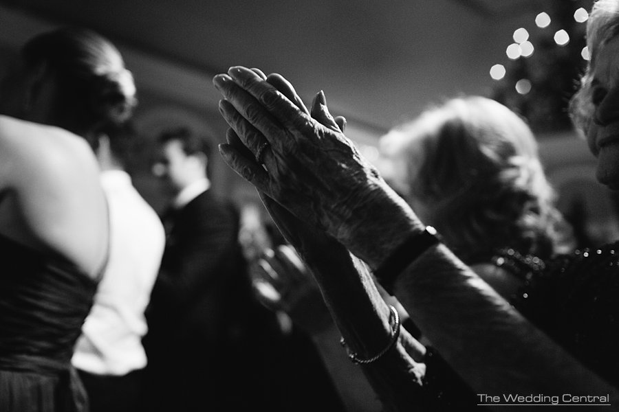 Grandma hands during New York Botanical Gardens wedding reception - NY Wedding photographer