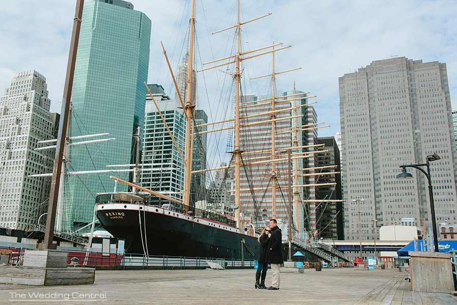 South Street Seaport Engagement Photos - Wedding Photographer in NYC