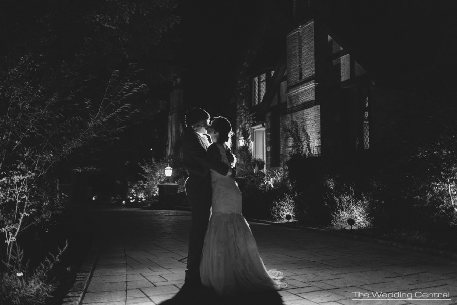 night wedding portrait - Rustic and romantic wedding photos - pa wedding photography