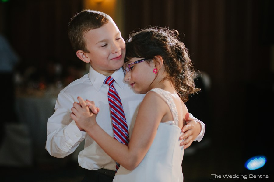 Princeton Marriott at Forrestal Wedding photos - children dancing slow dance at wedding