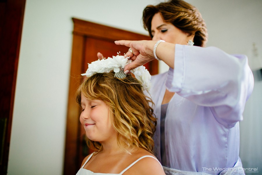 candid wedding photography new jersey - flower girl getting ready