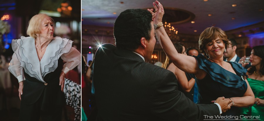 candid wedding photography in new jersey - family dancing and having fun during reception