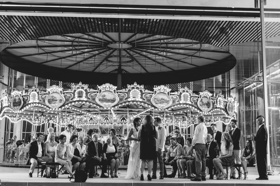 New York elopement. Brooklyn Jane's carousel wedding - Brooklyn Wedding Photographer
