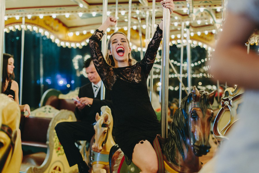 Brooklyn wedding photography - Jane's carousel elopement wedding photos