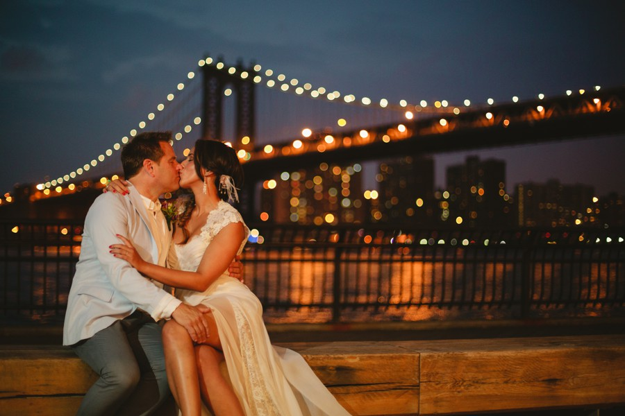Brooklyn bridge wedding photos - Jane's carousel elopement wedding photos