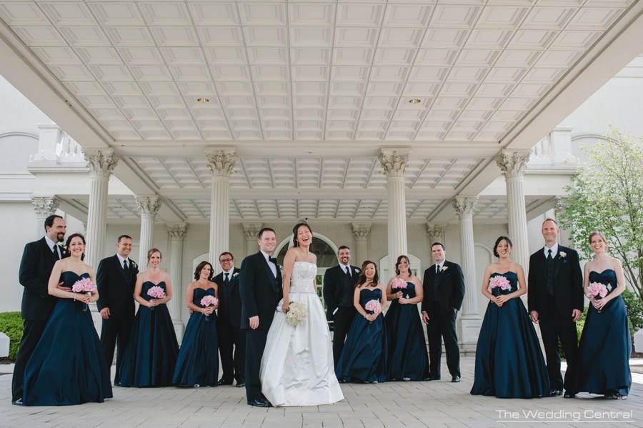 Bridal Party candid portrait from Lynne and Adam wedding photos at the Palace at Somerset in NJ