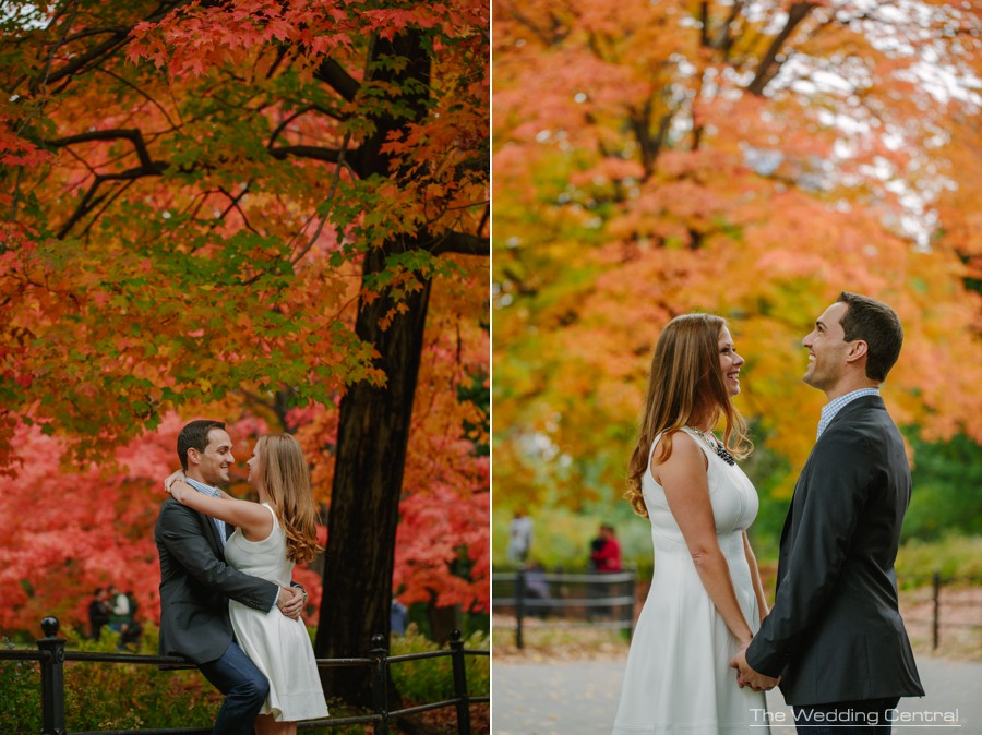 new york city engagement photos - nyc central park engagement photography