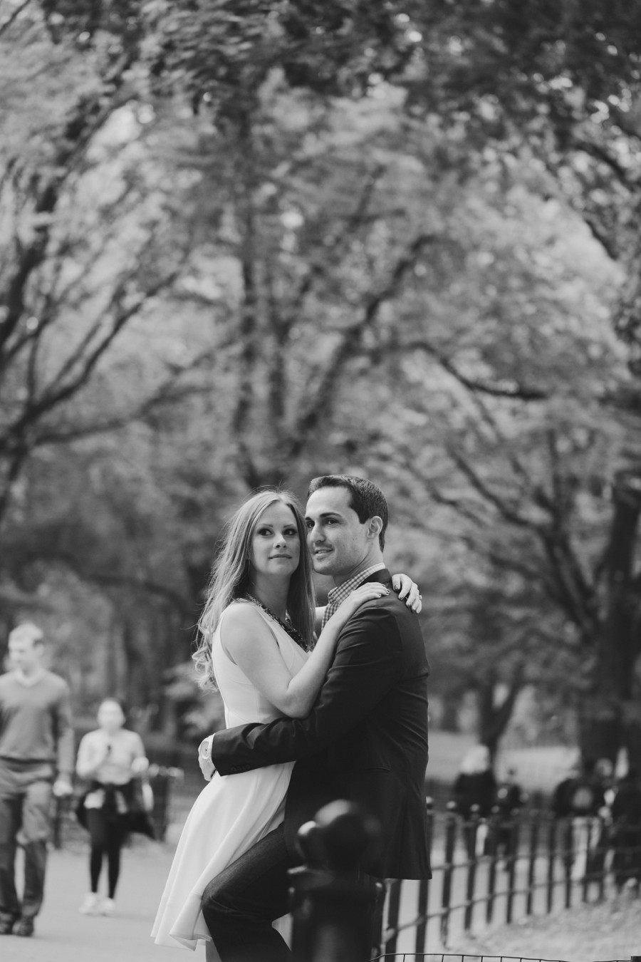 New york city engagement photographer - central park engagement photos