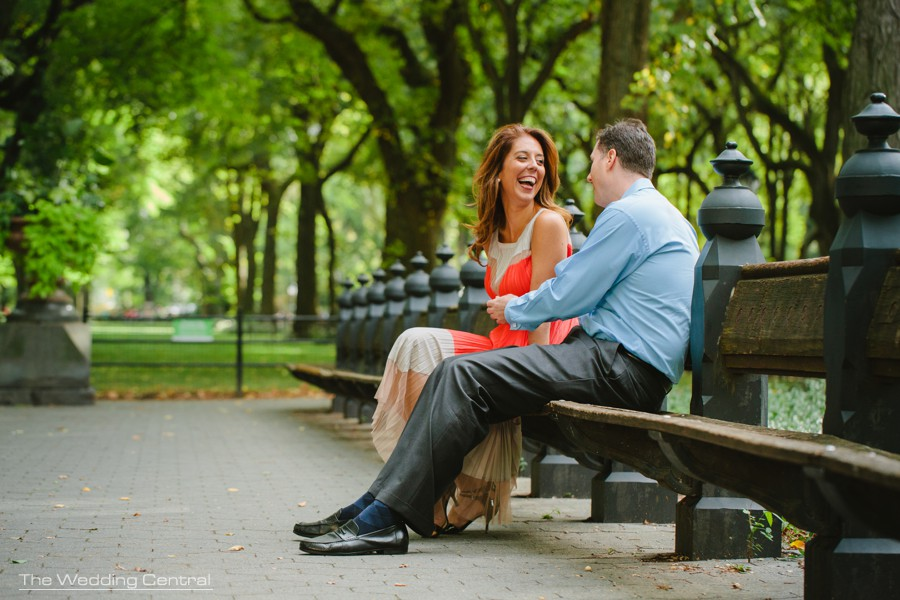New York City Engagement Photos - Central Park engagement photos
