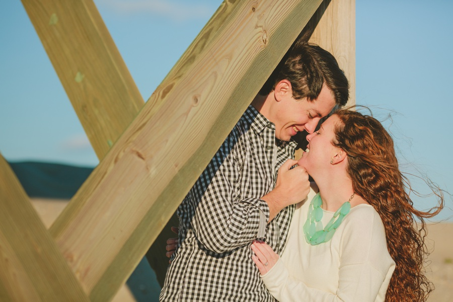 Romantic beach engagement photos Jersey shore engagement photographer