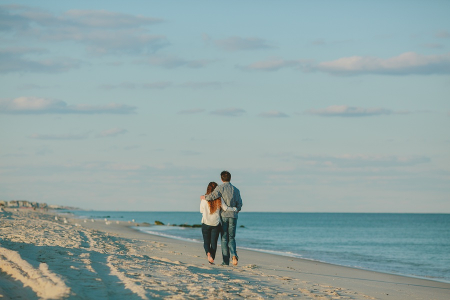 Romantic beach engagement photos Jersey shore engagement photographer