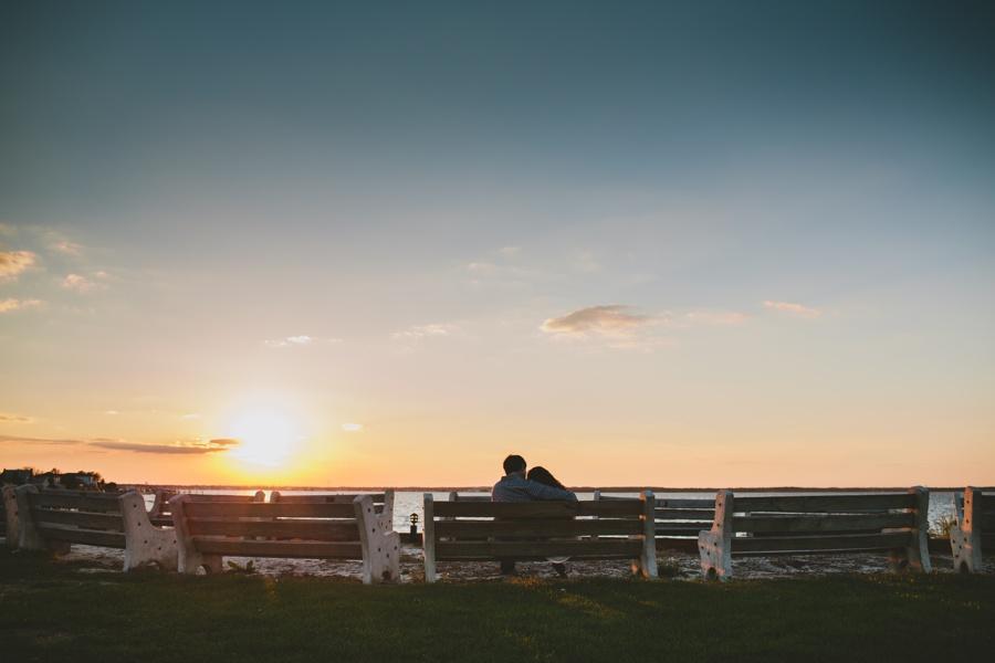 Romantic Beach Engagement photos at Jersey Shore NJ