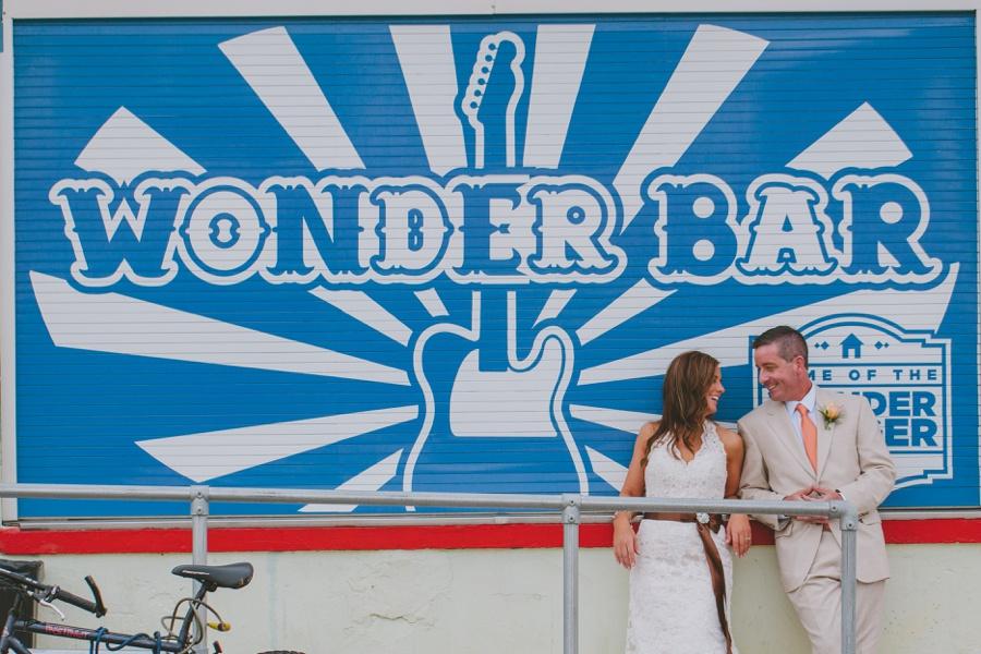Wonder bar wedding photo