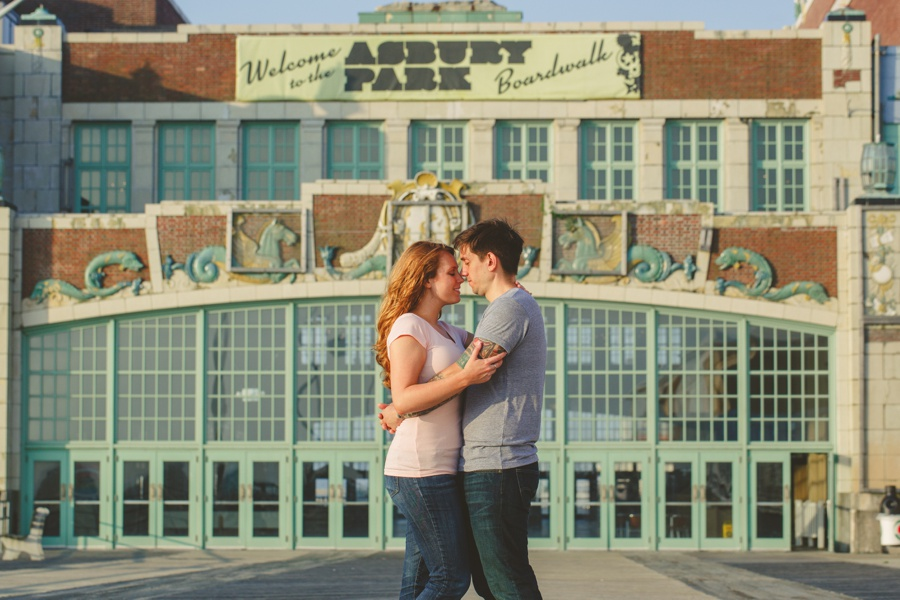 Asbury Park Engagement photos - contemporary engagement photos