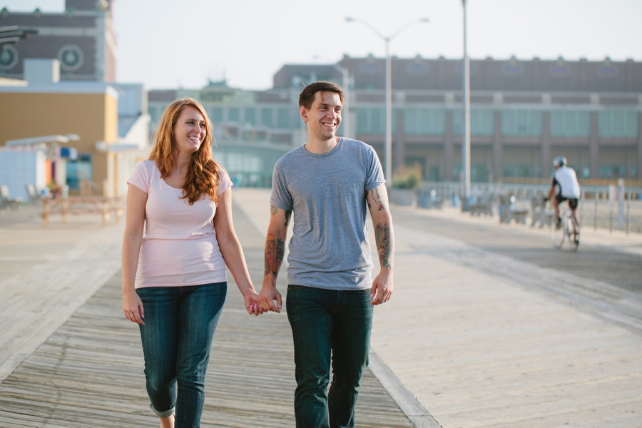Asbury Park Engagement photos - candid engagement photos
