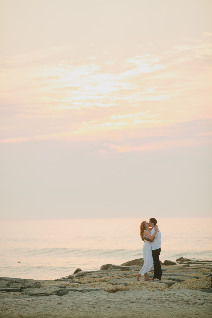 Jersey Shore wedding photography - Romantic beach photos