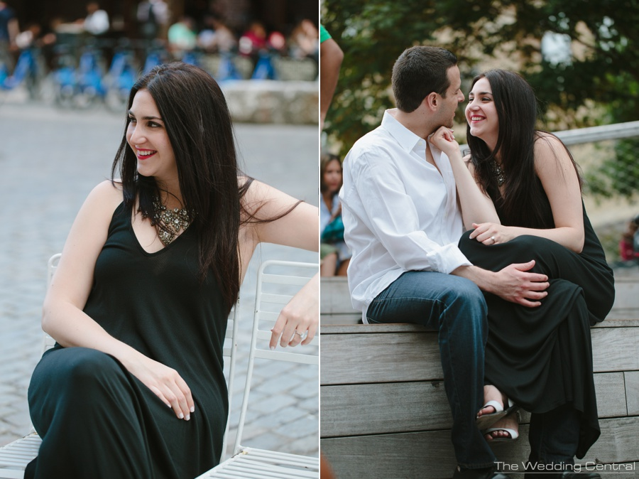 New York City engagement photographer - nyc engagement photos
