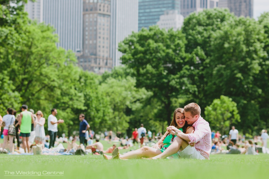 New York City Central Park engagement pictures - Central Park engagement photos