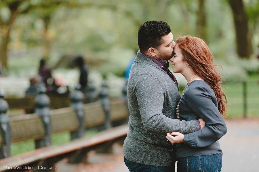 Romantic Engagement Photos in Central Park - The Wedding Central