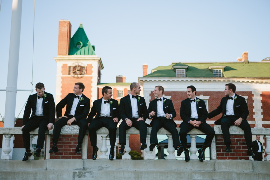 Candid Groomsman Portrait - Borne Mansion Wedding Photos - New York Wedding Photographer