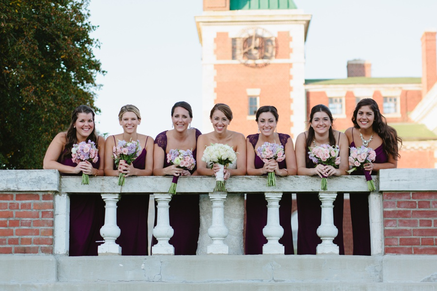Candid Bridesmaids Portrait - Borne Mansion Wedding Photos - New York Wedding Photographer